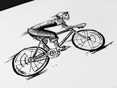 Skull Fixie illustration etching sketch art nyc