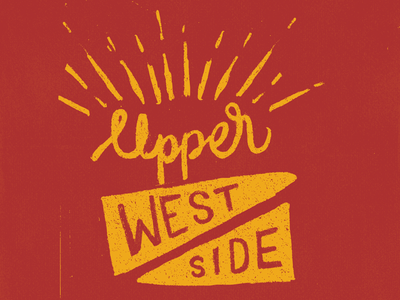 Upper West Side illustration sketch lettering type typography calligraphy nyc
