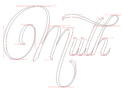 Lettering vector WIP design logo vector wip script anchors pen tool curves illustrator lettering type calligraphy