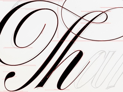 Working on some script lettering