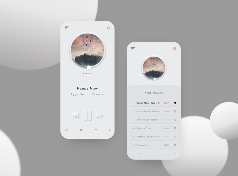 Neomorphic Music Player