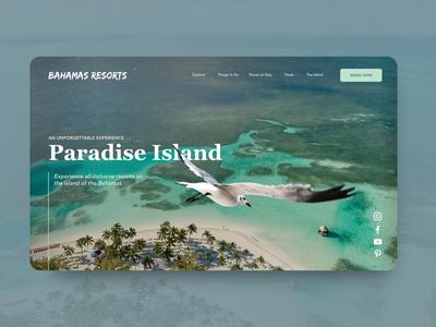 Mini break landing page design uiux behance dribbble design interfacedesign userinterface webdesign landingpage hotels resorts bahamas tropical vacation holiday island paradise ui