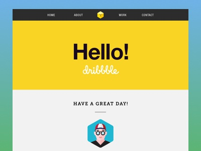 Hello, Dribbble! invite thank you first shot debut