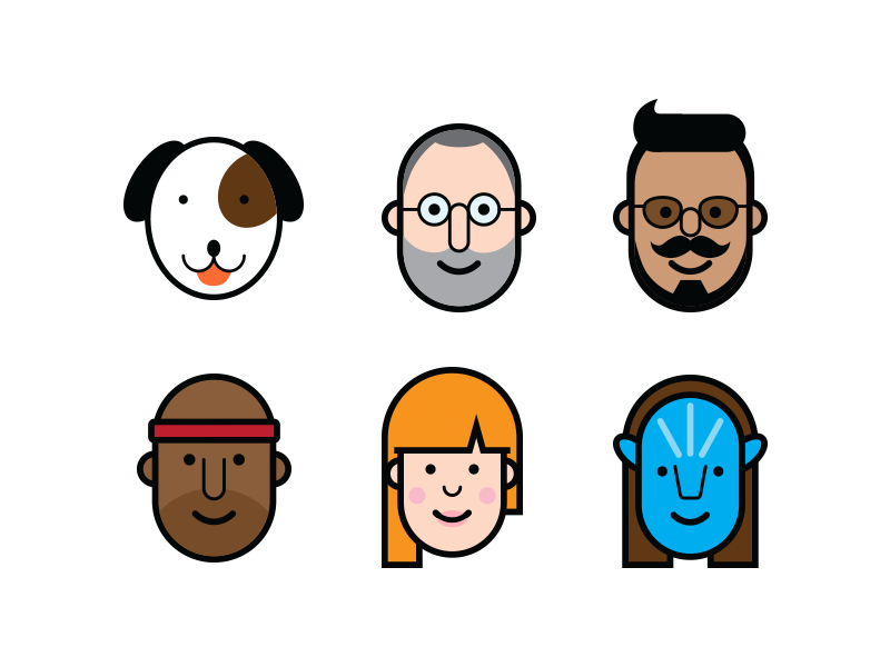 Avatars people vector illustration character avatar icons