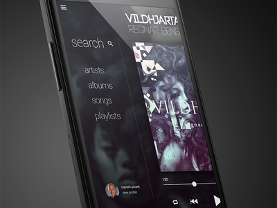 Music Player music player concept mobile android nexus 4