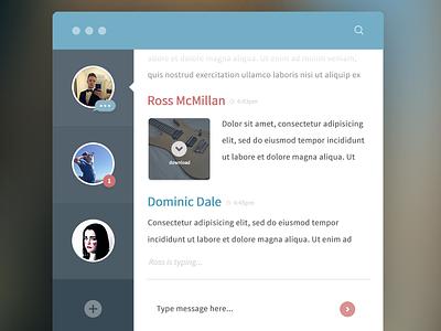 Chat App osx os x mac chat app application clean design ui