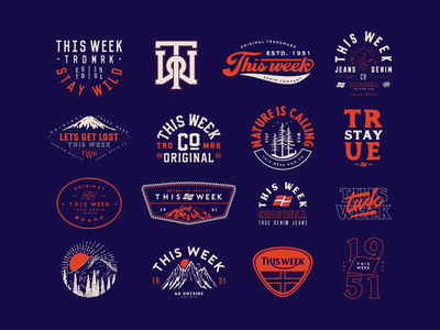 This Week - Badges Review 2020 typographic retrodesign badges dailydesign thisweek vintage graphicdesign classic lettering clothing typedesign logotype logomark logo badge ovrstudio retro typography badgedesign