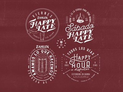 Zahlen Bar / 4 Badge Designs socialmedia beers happyhours overloaded design craftbeer beer badge beer ovrstudio badge logo classic art graphicdesign typography vintage retro lettering badgedesign badge