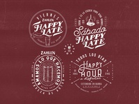 Zahlen Bar / 4 Badge Designs