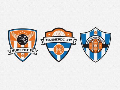 HubSpot FC badge football soccer club sprocket shield