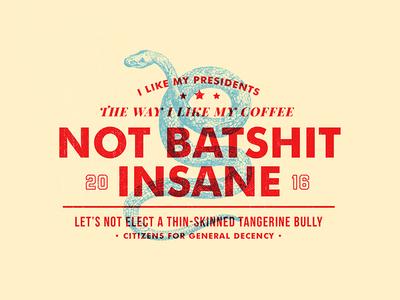 Coffee Preference tangerine insane snake coffee politics election decency usa america