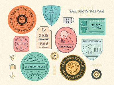 Sam from the Van anchorage seattle wheel travel logo van badge