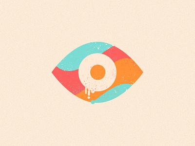 Eye drip texture rza iris illustration icon eye