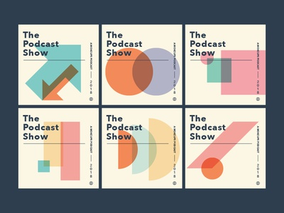 Test Run colors geometric grid swiss podcast branding