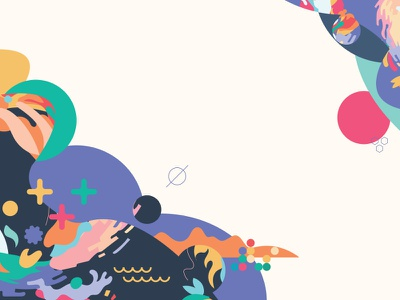 The Colors & The Shapes shape color pattern bloobs blorbs blobs