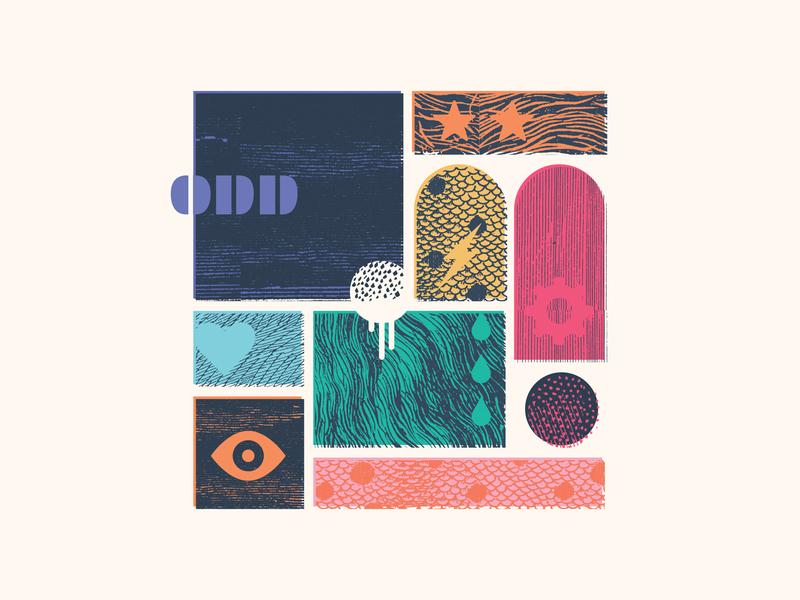 Odd Work fur baby droplet blorp eye patterns textures branding odd