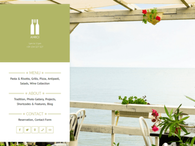 Amici -  Restaurant & Cafe Theme minimal clean photography theme wordpress