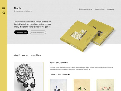 Buuk - Microsite theme experiment theme psd experiment design microsite