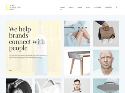 Exa Studios Fresh & Creative Portfolio startup responsive portfolio photography gallery freelancer creative clean agency design minimal