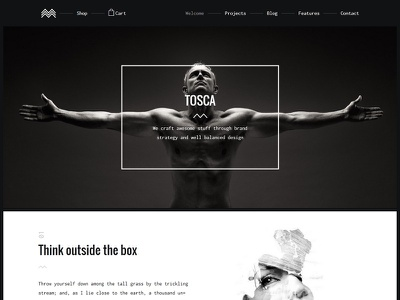 Tosca - Creative Portfolio & Ecommerce Theme startup responsive portfolio photography gallery freelancer creative clean agency design minimal