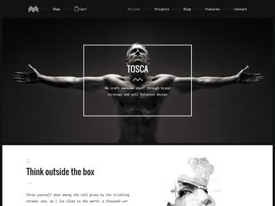 Tosca - Creative Portfolio & Ecommerce Theme startup responsive portfolio photography gallery freelancer creative clean agency design minimal