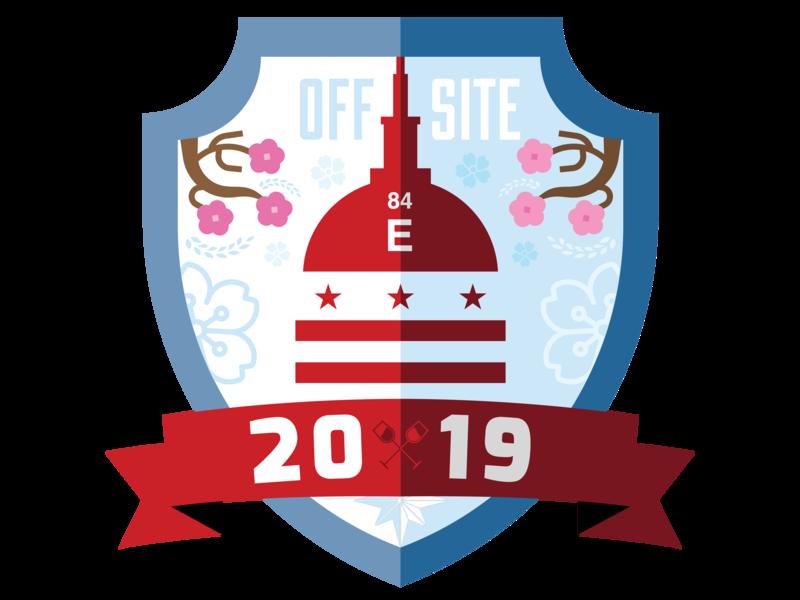 2019 DC Offsite Badge 2019 spring design dc sticker logo typography vector art offsite element 84 vineyard cherry blossoms washington dc