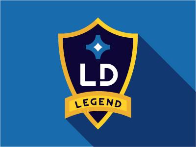 Legend mls soccer football la galaxy landon donovan sports crest
