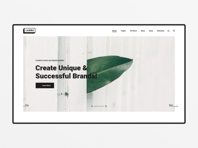 Lamba - Creative Portfolio & Agency WordPress Theme