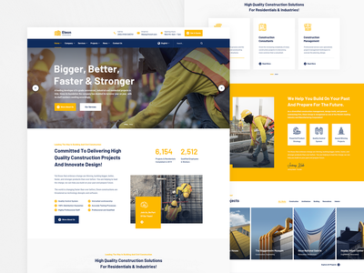 Eteon Modern Constructions business product design website design webdesign property industrial handyman engineers engineering elementor contractor construction company construction building company building architecture architect