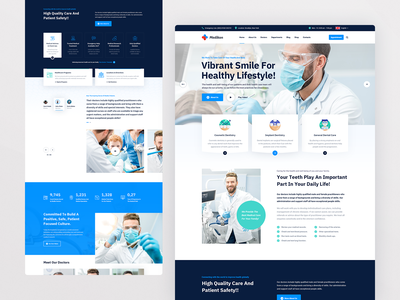 Medikon Dentist dental clinic dentistry user interface userinterface surgeon corona clinic pharmacy physician dentist dental medical care healthcare health care doctor profile doctor medicine medical hospital health