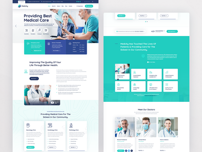 Medcity Health & Medical userinterface user interface user interface design uxdesign health hospital medical medicine doctor doctor profile health care healthcare medical care dental dentist physician pharmacy clinic corona surgeon