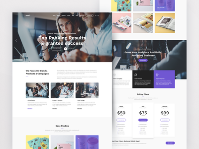 Mori Marketing creative studio creative agency creative contemporary portfolio agency free psd files uxdesign kit ui ux kit ui kit webdesign web uxdesign user interface design user interface userinterface uiux ui minimalist minimalism