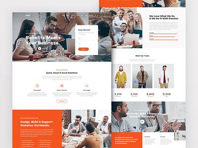 Mori Company small business corporate business free psd files uxdesign kit ui ux kit ui kit webdesign web uxdesign user interface design user interface userinterface uiux ui minimalist minimalism