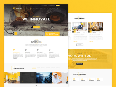 Yellow Hats - Construction Business Template
