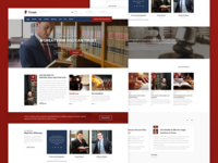 Dark Red Trust - Lawyer & Attorney Business Theme
