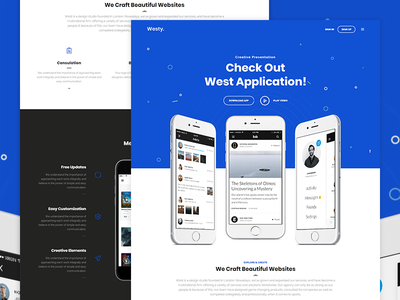 Westy App Presentation small business seo parallax niche multi purpose freelance finance business creative landing wordpress app landing application agency