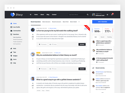 Discy - Social Questions and Answers WordPress Theme qa knowledge base discussion q  a rtl questions  answers points and badges get answers community ask questions wiki answers question and answer
