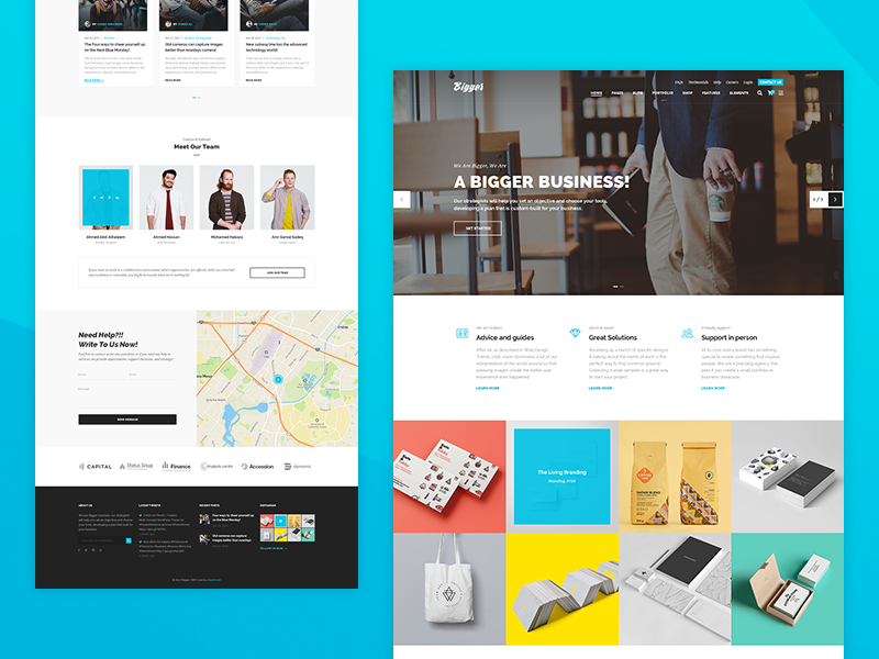 Biger Corporate Home by Mahmoud Baghagho on Dribbble