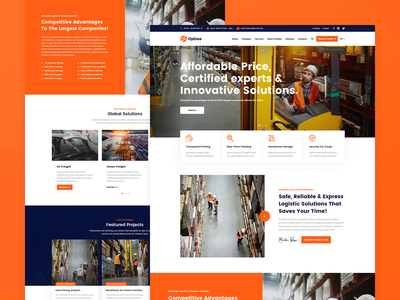 Optime Modern industry website design website web design webdesign web warehouse ux design ux ui trucking wordpress theme transport wordpress theme transport company transportation shipping company shipment moving company wordpress theme logistics company delivery service cargo