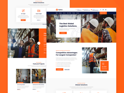 Optime Classic industrial website design website web design webdesign web warehouse ux design ux ui trucking wordpress theme transport wordpress theme transport company transportation shipping company shipment moving company wordpress theme logistics company delivery service cargo