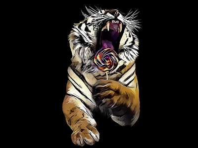 Tiger like Lollipop