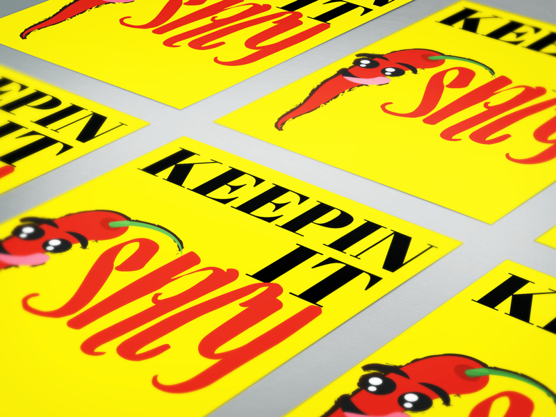 Keepin' it Spicy 🌶 poster vector illustration illustrator clean spicy pepper red