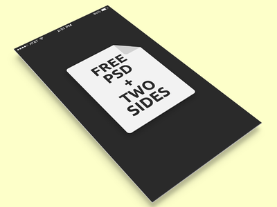Free iphone5 app display template + 2 sides free psd iphone5 ios7