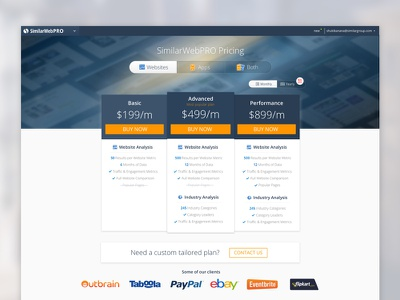 SimilarWeb Pricing Page design website tables pricing pricing page