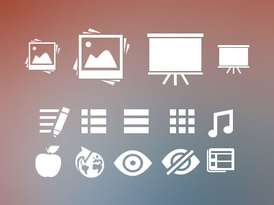Random (but useful) Icons - Free PSD attached icons image stack edit list private public free screen apple education traffic list icons news