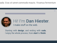 Distantly Yours footer snippet