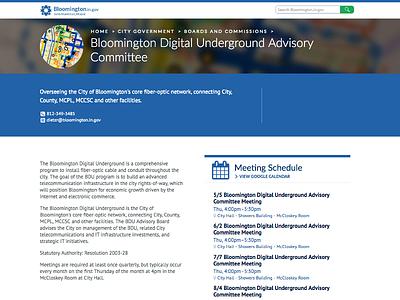 Bloomington Digital Undergound Advisory Committee schedule government