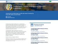 Bloomington Digital Undergound Advisory Committee