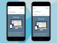 Dribbble Mobile Portfolio Navigation