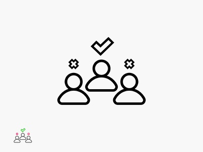 HR Icon line outline icon selection approved users human resources employee human hr